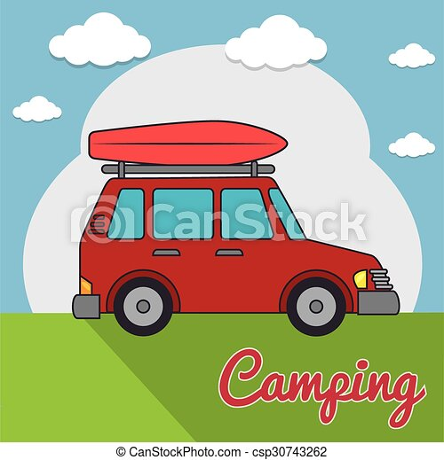 buiten, kamperen - csp30743262