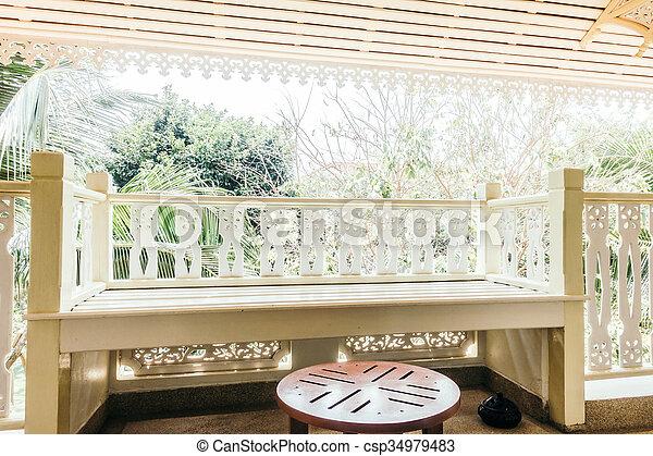 Buiten terras versiering buiten ouderwetse filter
