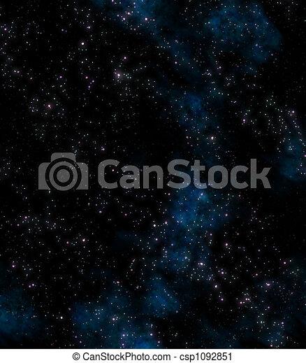 buitenst, sterretjes, ruimte - csp1092851
