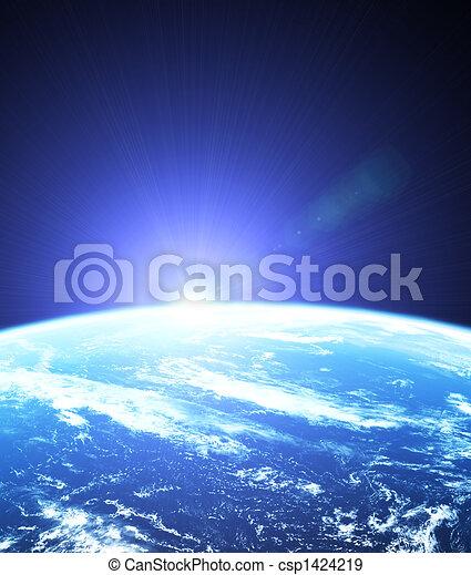 buitenst, zonopkomst, ruimte - csp1424219