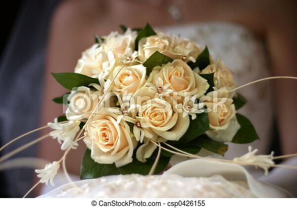 bukett, bröllop - csp0426155