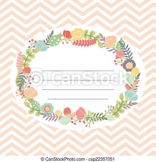 bukett, söt, blomma, kort - csp22357051
