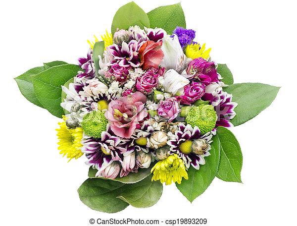 Bukiet Dziewczyna Urodziny Kwiaty Tło Bukiet Macro Młody