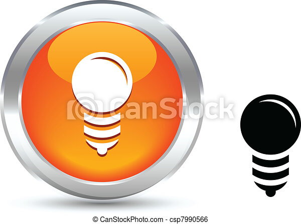 Bulb  button. - csp7990566