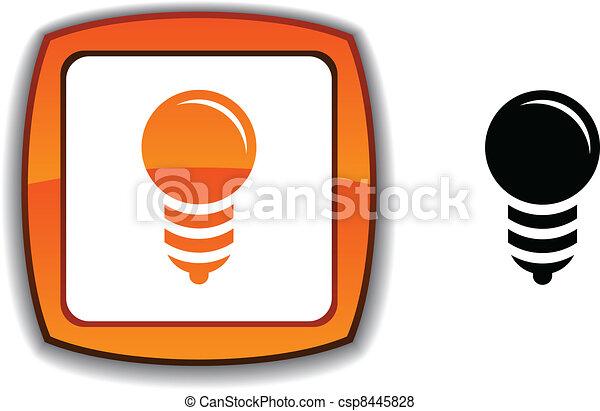 Bulb button. - csp8445828