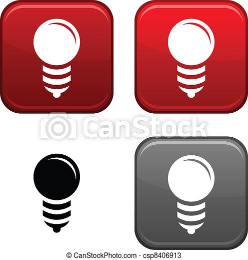 Bulb button. - csp8406913
