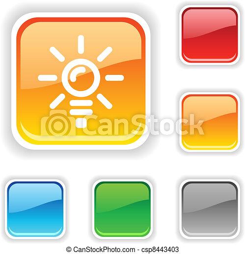 Bulb button. - csp8443403