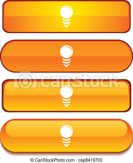 Bulb button set. - csp8419703
