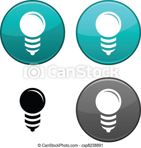 Bulb button. - csp8238891