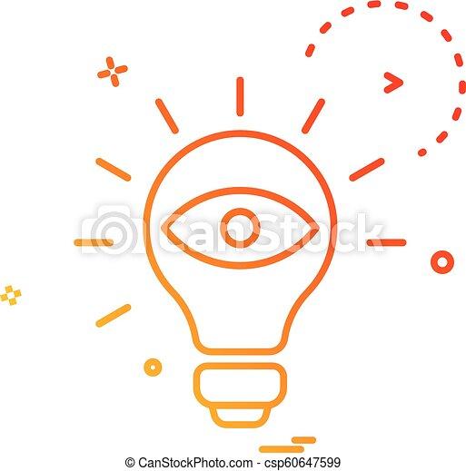 bulb eye icon vector design - csp60647599