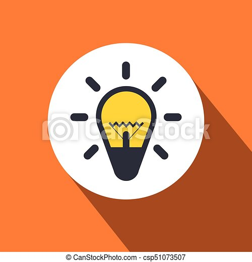 Bulb Flat Design Icon - csp51073507