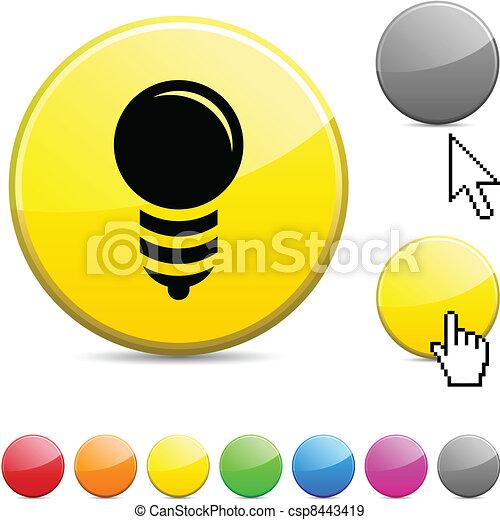 Bulb glossy button. - csp8443419