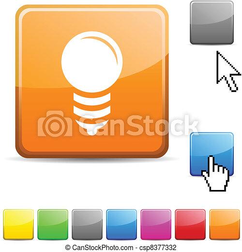 Bulb glossy button. - csp8377332