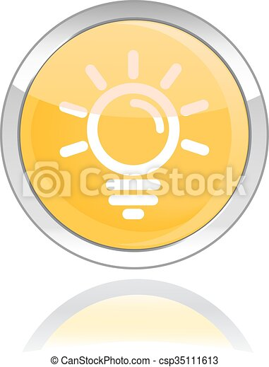 bulb glossy icon button - csp35111613