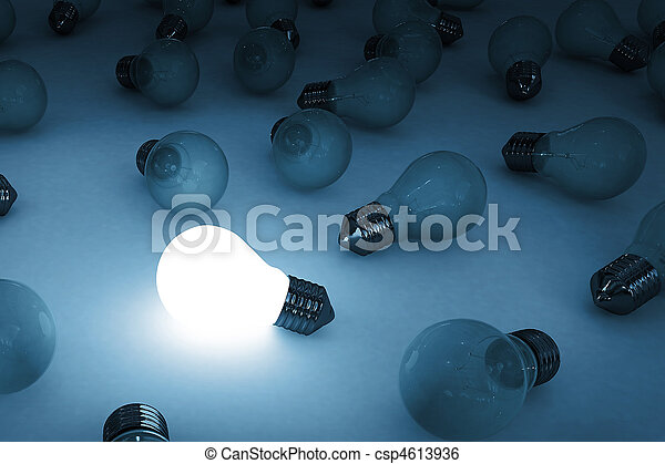 bulb glowing - csp4613936