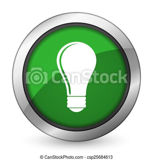 bulb green icon idea sign - csp25684613