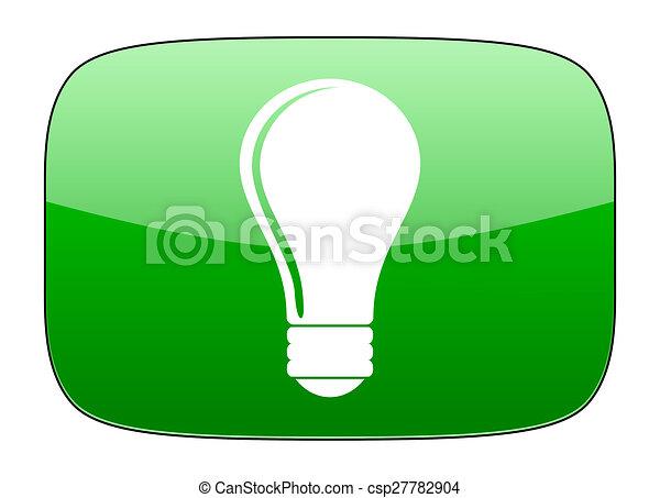 bulb green icon idea sign - csp27782904