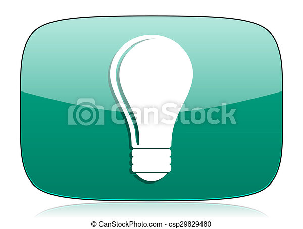 bulb green icon idea sign - csp29829480