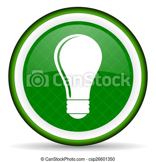 bulb green icon idea sign - csp26601350