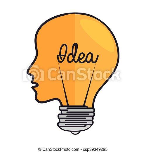 Bulb Head Light Idea Vector