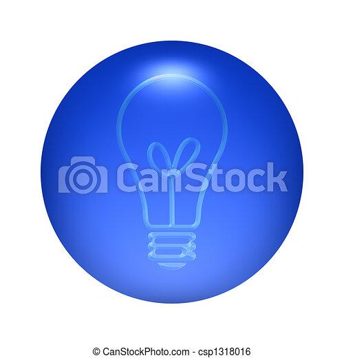 Bulb Icon Button - csp1318016