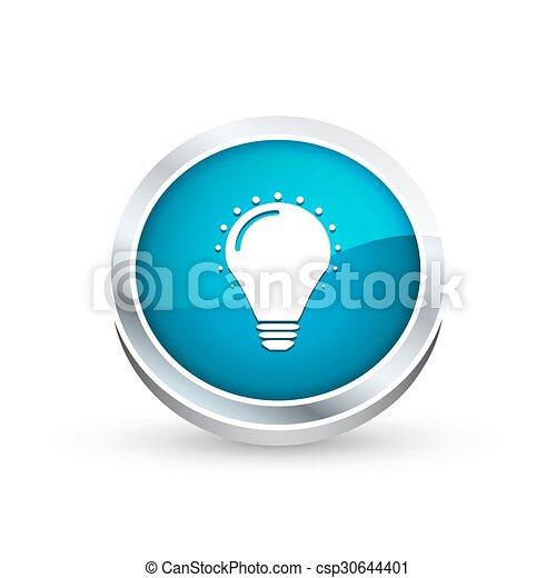 Bulb icon, button - csp30644401