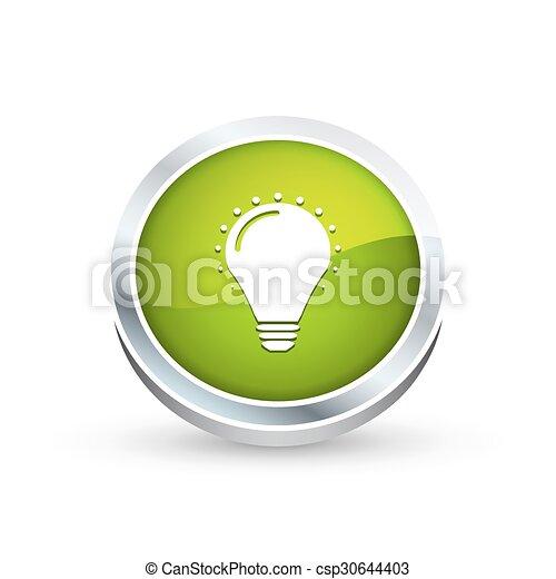 Bulb icon, button - csp30644403