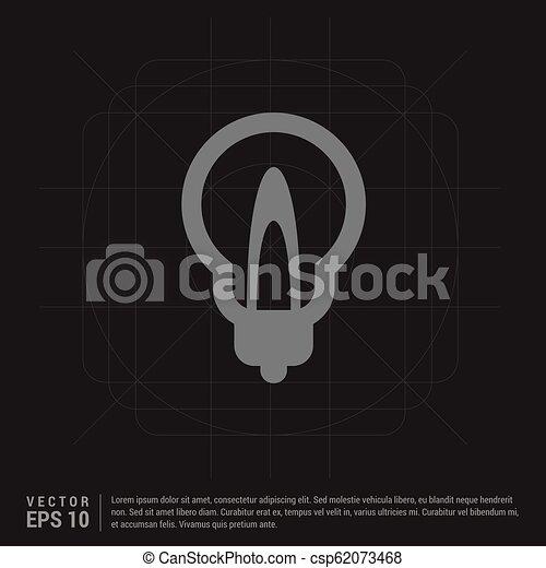 bulb icon - csp62073468