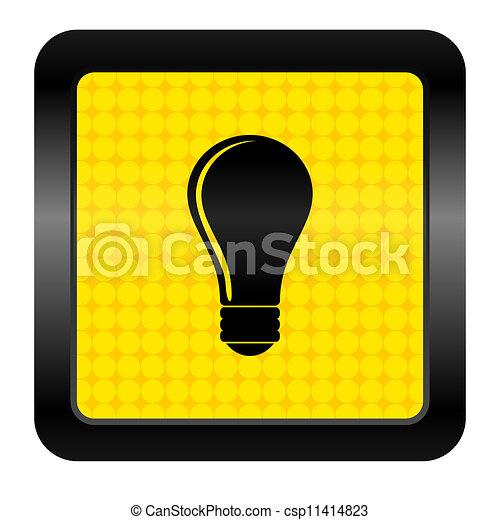 bulb icon - csp11414823