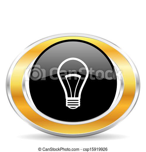 bulb icon - csp15919926
