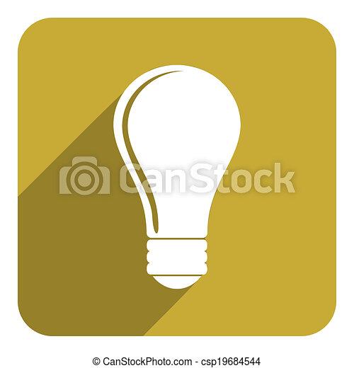 bulb icon - csp19684544