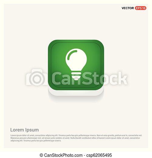 bulb icon - csp62065495