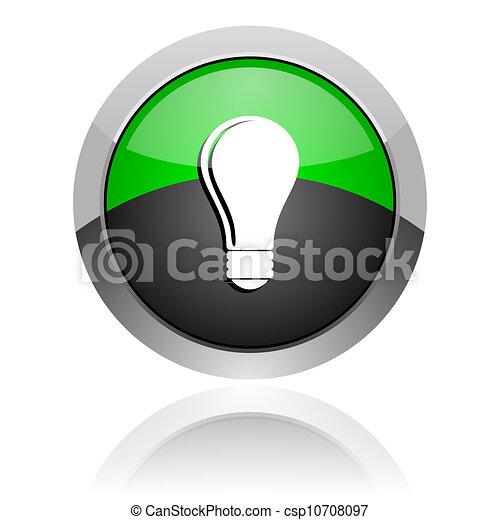 bulb icon - csp10708097