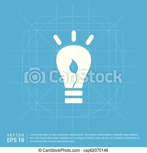 bulb icon - csp62070146