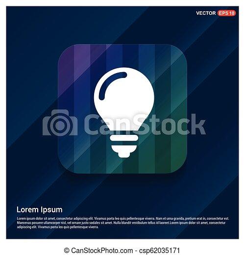 bulb icon - csp62035171