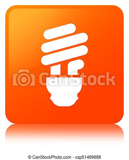 Bulb icon orange square button - csp51489688