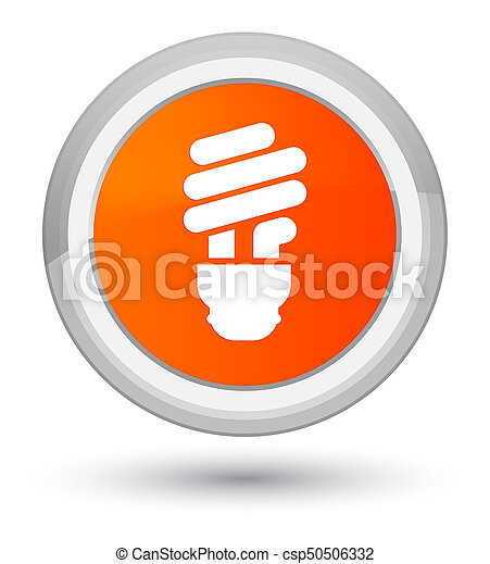 Bulb icon prime orange round button - csp50506332