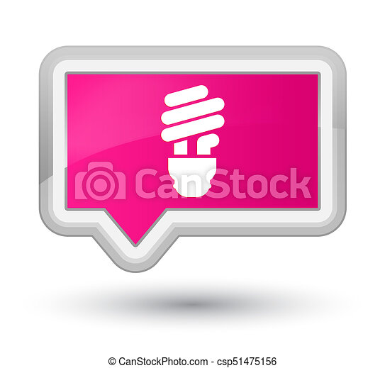 Bulb icon prime pink banner button - csp51475156