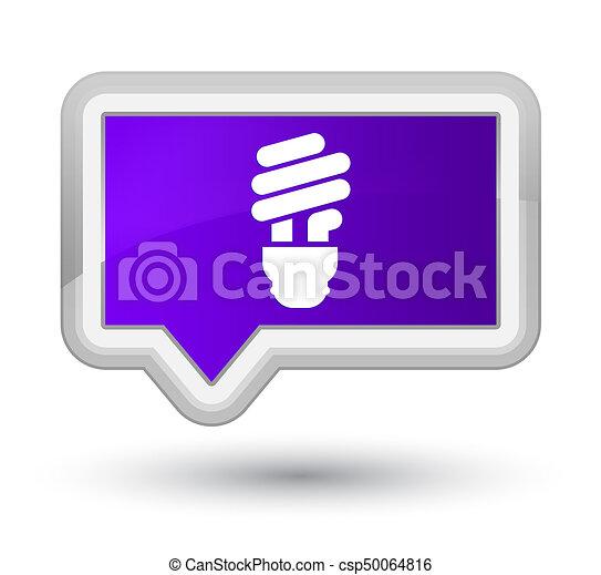 Bulb icon prime purple banner button - csp50064816