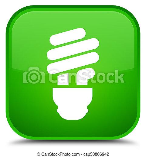 Bulb icon special green square button - csp50806942