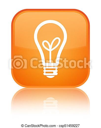 Bulb icon special orange square button - csp51459227