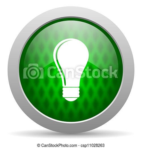 bulb icon - csp11028263