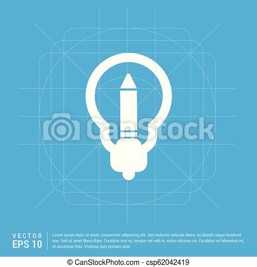 bulb icon - csp62042419