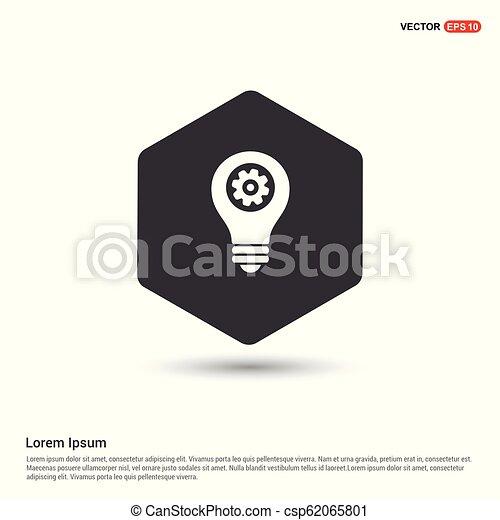 bulb icon - csp62065801