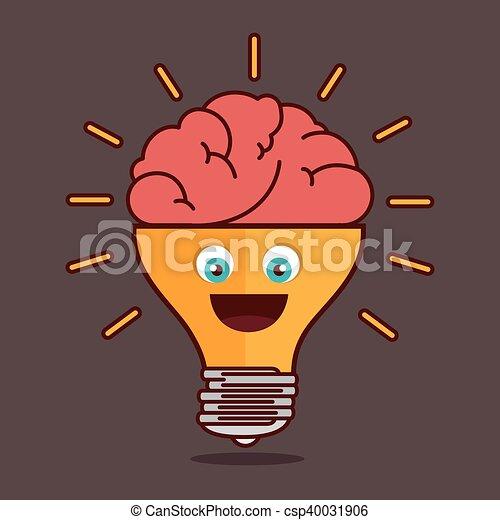 bulb idea creative isolated design - csp40031906