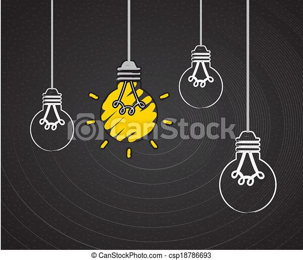 bulb idea design - csp18786693