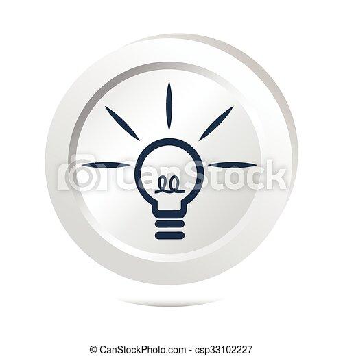 Bulb, idea sign button icon - csp33102227