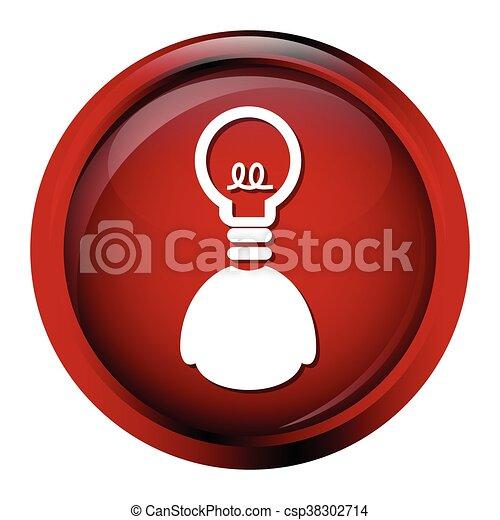 Bulb, idea sign button icon - csp38302714