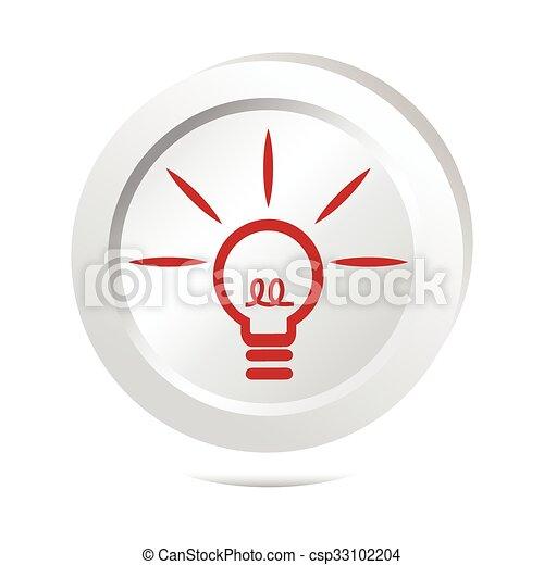 Bulb, idea sign button icon - csp33102204