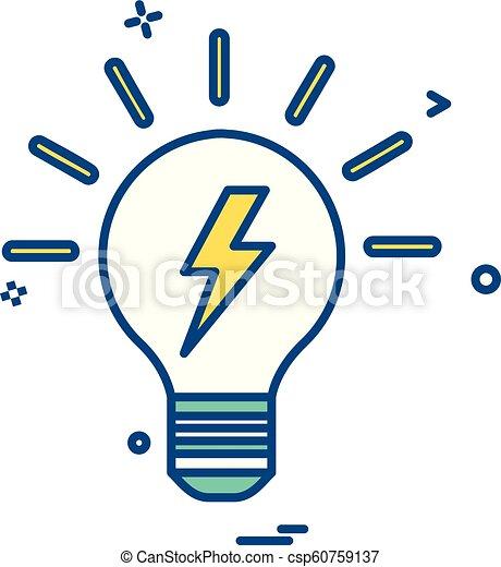 bulb light icon vector - csp60759137
